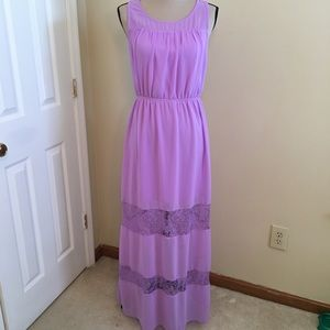 Charming Charlie Lace cut out maxi in lilac